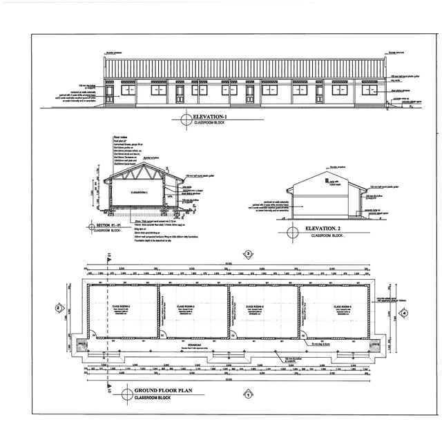 Plans for classroom block