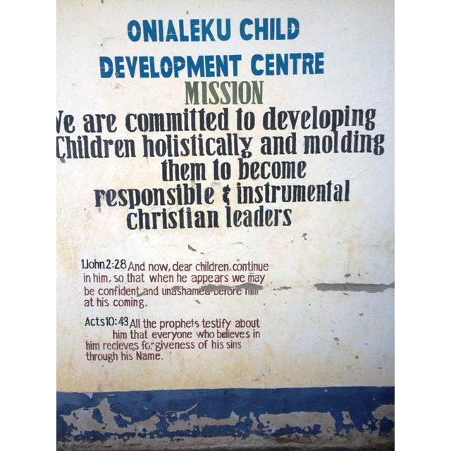 Onialeku – Child Development Centre supported by Compassion