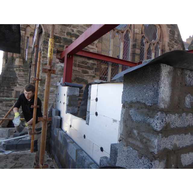 Blockwork and insulation