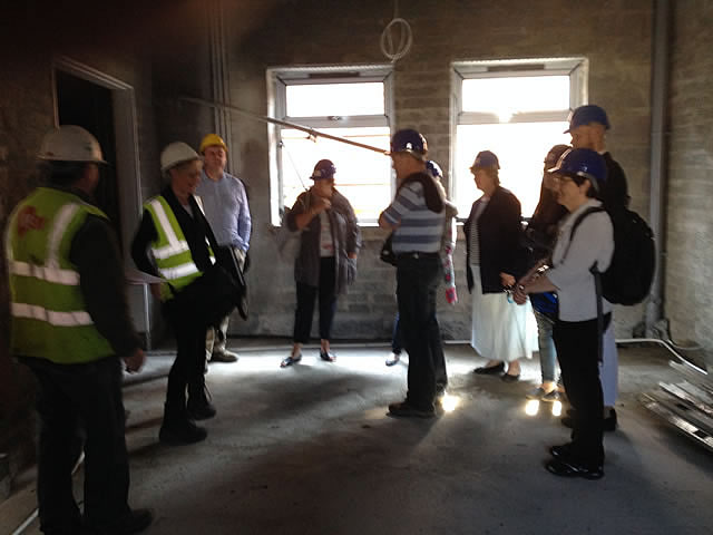 Project Team, staff & co having a look around